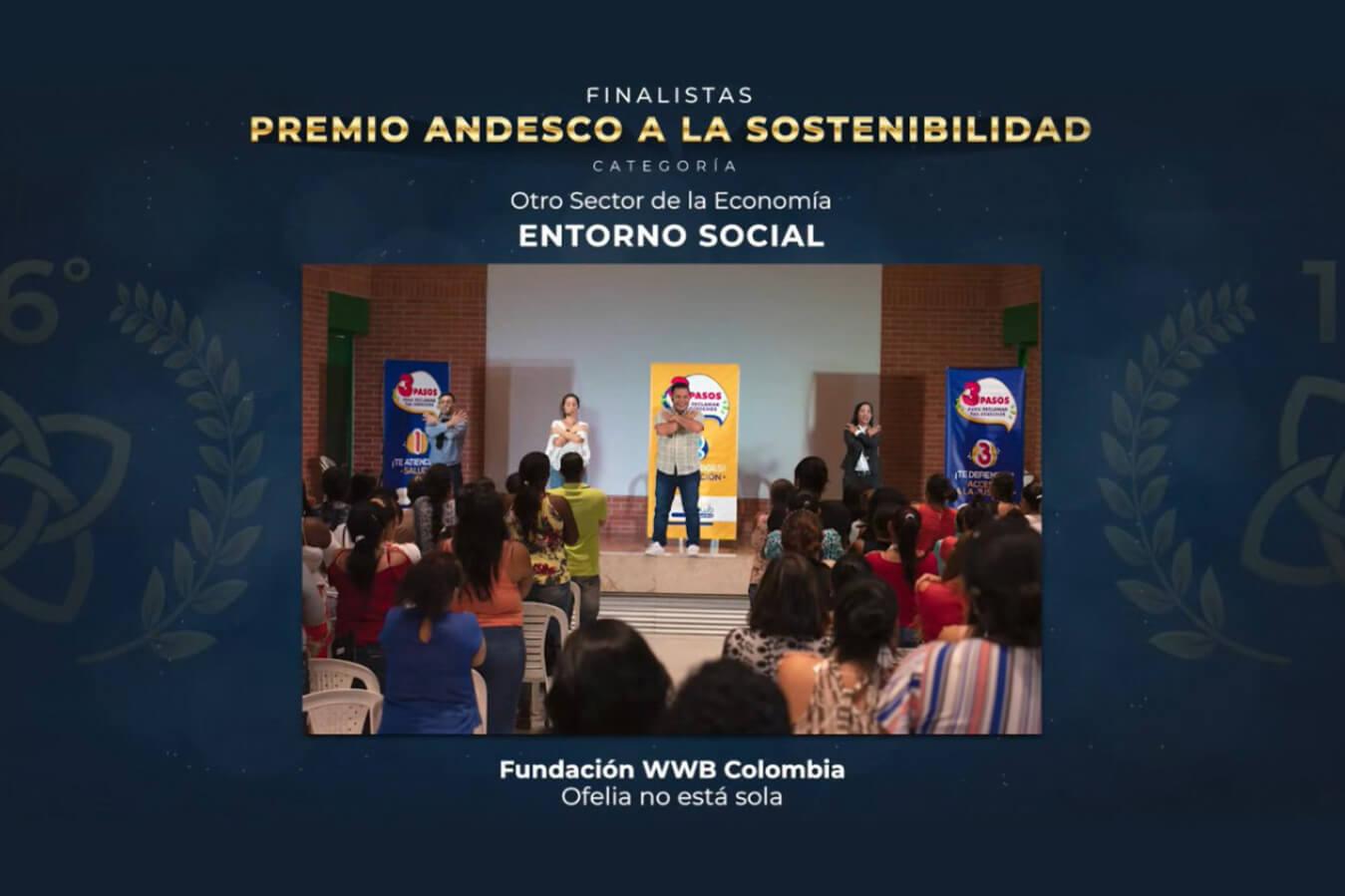 Premios Andesco. Banner